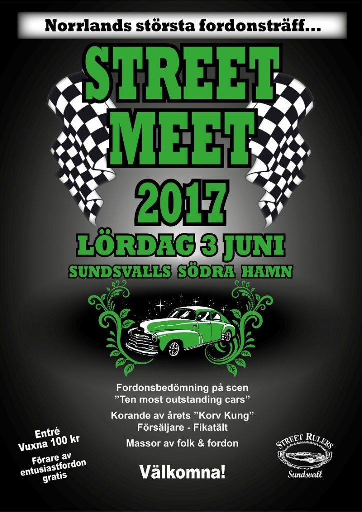 Affisch Street Meet 2017 med bil web